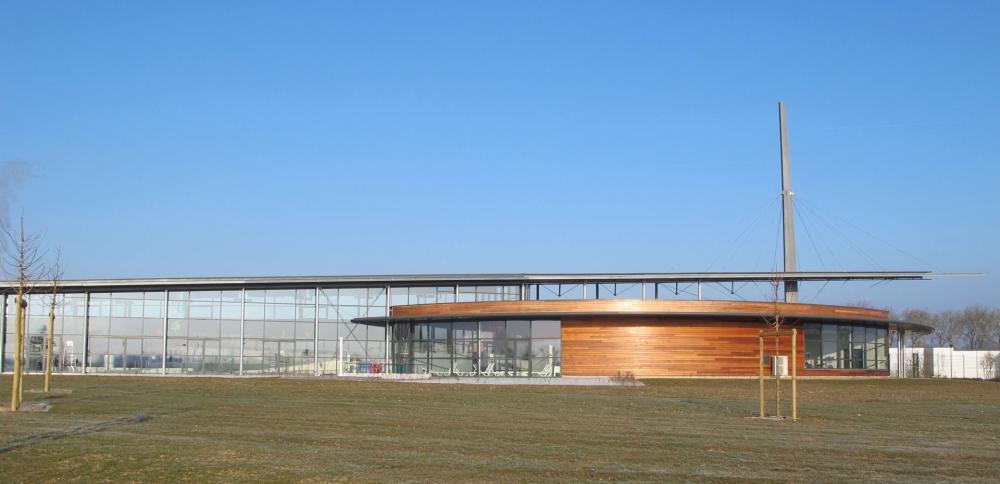 Construction du centre aquatique à La Flèche